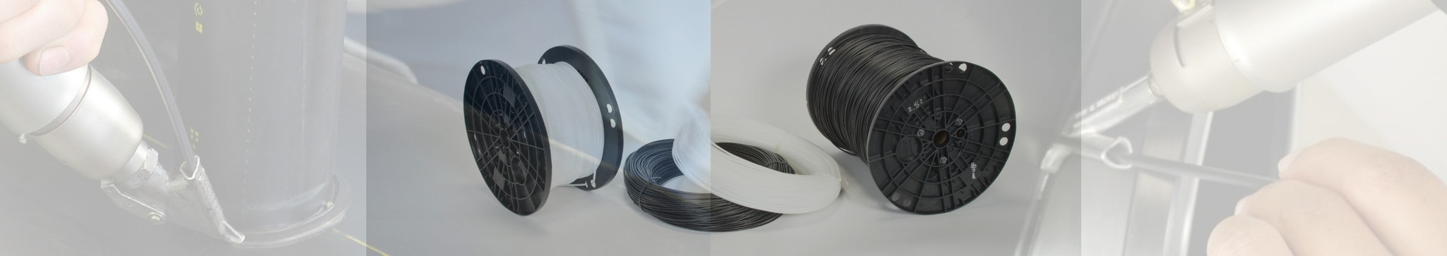 Plastic welding rod and ribbon